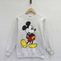 Vintage Disney Mickey Mouse Sweatshirt Crewneck Size Small Heather Gray 90s
