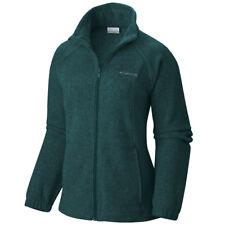 """New Womens Columbia """"Benton Springs"""" Full Zip Fleece Jacket Sweaters 1X-2X-3X"""