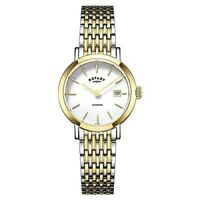 Rotary Windsor Two Tone Gold Plated Stainless Steel LB05301/01 Ladies Watch