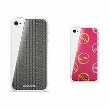 2 skins for IPHONE4 Hangover CARBON LOOK/black + HAPPY PILLS/magenta