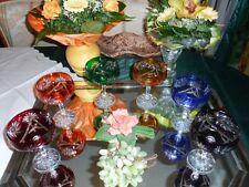 6 Römer - Kristallgläser/ Sektschalen - geschliffen im Set in 6 Farben - 24%Pb
