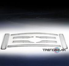 2009-2012 FORD F-150 FX4 STX XL UPPER STAINLESS STEEL MESH GRILLE CHROME 8PCS