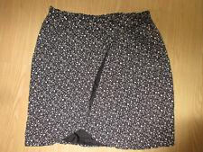 Jones New York Black/White Polka Dots Faux Wrap Skirt Women's Size 22
