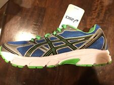 New NIB Asics Kids Running Patriot Kids Grey Green Size 5.5. Free Shipping!