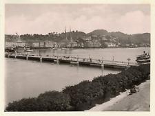 Suisse, Luzern, Lucerne, neue Brücke & Pilatus  Vintage print,  Photomécan