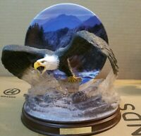 Bradford Exchange- Force Of Nature Eagle Figurine Collectors Plates 1-8 Set