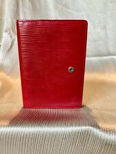 Authentic Louis Vuitton Pre-Loved Red Epi Diary Cover Agenda PM