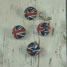 Handmade fabric covered Union Jack Buttons 18mm by Lilac Sprig Designs