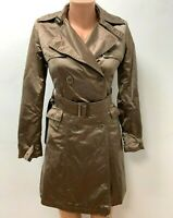 SALE - HERNO Gr.IT 40 DE 34 Jacke Mantel Knielang Gold - Braun Trenchcoat MAC