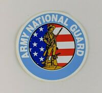 Vintage Army National Guard Round Decal Sticker