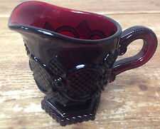 Creamer Pitcher Avon Ruby Red Glass Cape Cod Pressed Cut Vintage 3353