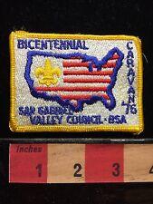 Vtg 1976 Bicentennial Patch San Gabriel Council Caravan Patriotic CA BSA 67WH