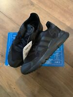 Adidas Nite Jogger Trainers UK Size 2.5 Carbon Black