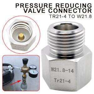 TR21-4 to W21.8 Soda Stream CO2 Adapter to Homebrew Beer Keg/Aquarium Regulator