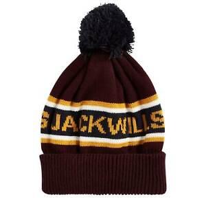 Jack Wills Mens Kitson Intarsia Hat Bobble Stripe Winter Striped
