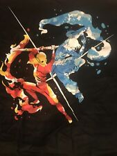 INVASION 1UP BOX  EXCLUSIVE AVATAR KORRA & AANG FIRE AND WATER T-SHIRT 2XL