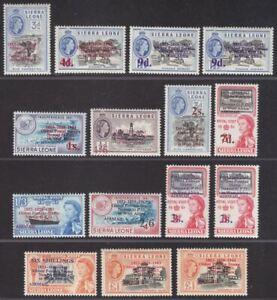 Sierra Leone 1963 Postal Commemorations Surcharge Set Mint SG273-284 cat £50