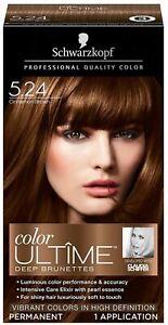 Schwarzkopf Hair Color Ultime Permanent Hair Color Cream, 5.24 Cinnamon Brown