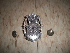 Pin with 2 side screws Silver plate Vintage Rotc Usaf Air Force  00004000 Hat Badge