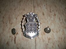 Pin with 2 side screws Silver plate Vintage Rotc Usaf Air Force Hat Badge