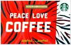 STARBUCKS 2018 USA ' PEACE & LOVE FOR COFFEE ' US STATE COLLECTIBLE GIFT CARD For Sale
