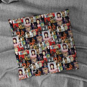 "Coloured David Bowie Montage Design 18"" x 18"" Celebrity Cushion"
