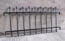 "Antique/Vintage Black Wrought Iron Steel Bar Basement Window Guard - 18"" x 36"""
