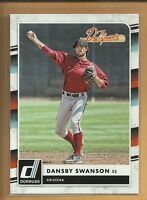 Dansby Swanson RC 2016 Donruss The Prospects Insert Rookie Card # TP6 Braves MLB