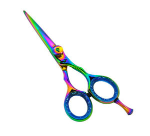 """5"""" Titanium Hairdressing Scissors Barber Scissor Salon Hair Cutting Razor"""