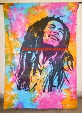 Tie Dye Indian Hippie Wall Hanging Bob Marley Tapestry Dorm Decor Beach Blanket