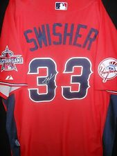 NICK SWISHER SIGNED 2010 ALL STAR JERSEY AUTH. MAJESTIC NY YANKEES-VERY RARE!