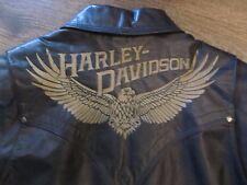 """HARLEY DAVIDSON """"BACK ROADS"""" LEATHER JACKET - 97090-06VM - MEN'S SMALL !!"""