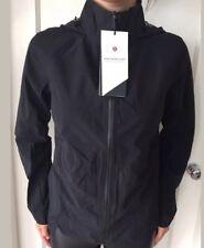 Lululemon Size 6 No Matter What Jacket  Black BLK NWT Waterproof Hooded Full Zip
