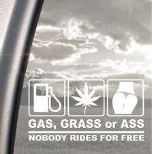 Funny GAS GRASS or ASS Sticker Car SUV Door/Rear Trunk/Window/Bumper Vinyl Decal
