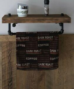 Rustic Farmhouse Wood Wall Shelf Decor - Wall Shelf - Industrial Pipe