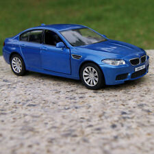 BMW M5 Model Cars 5 Inch Toy Car Alloy Diecast Gift With Pull Back Function Blue