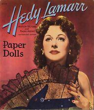 Vintage Uncut 1941 Hedy Lamarr Paper Dolls ~Hd Laser Reproduction~Lo Pr~Hi Q