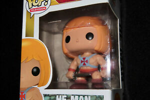 Original FUNKO Pop TV MASTERS OF THE UNIVERSE HE-MAN #17 & Protector! vaulted