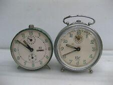 despertadores antiguos lote de 2 unidades distintas