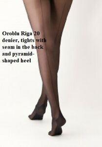 Oroblu Riga 20 denier, tights with seam in the back and pyramid-shaped heel