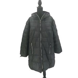 Outdoor Spirit Women's Puffer Parka Jacket Coat Dark Gray Plus Size 2X