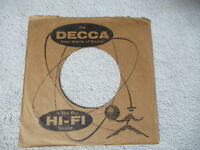 sleeve only DECCA big hi-fi sound  45 record company sleeve only    45
