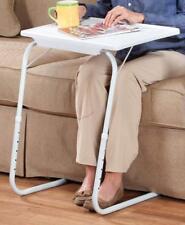 White Adjustable Foldable Laptop Coffee Tea Table