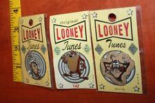 3 Original Looney Tunes pin Taz Tasmanian Devil free shipping USA Warner Bros