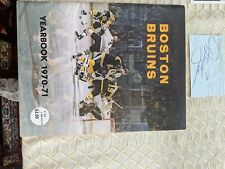 1971 Boston Bruins Photos & Yearbook; Excellent Condition