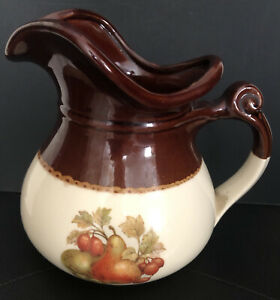 Vintage McCoy Pitcher with Pears and Figs 7515