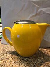 EUC Yellow Ceramic Teapot with Infuser