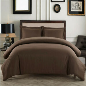 Microfiber Comforter Duvet Cover and Two Pillow Shams  - Twin, Queen or King