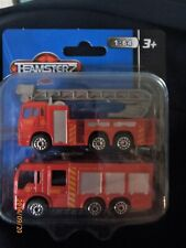 Fire Rescue Tender & Fire Brigade Ladder Vehicle by Teamsters 1-64th New