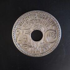 Médaille sous-verre pièce Medal coaster coin 25 centimes 1924 France